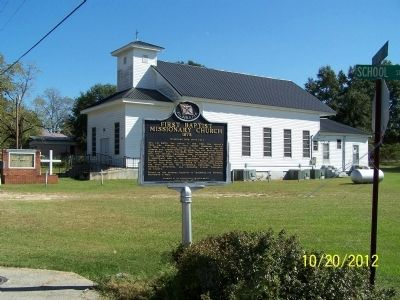 First Baptist Missionary Church 1875 Marker image. Click for full size.