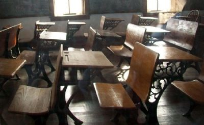 Lower Fox Creek School Interior image. Click for full size.