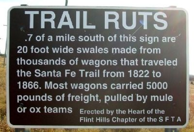 Trail Ruts Marker image. Click for full size.