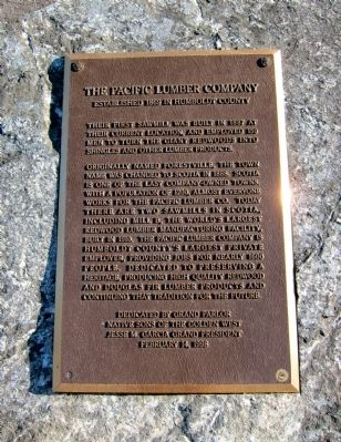 The Pacific Lumber Company Marker image. Click for full size.