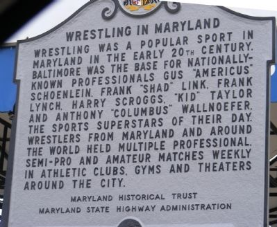 Wrestling in Maryland Marker image. Click for full size.