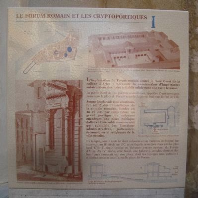 Le Forum Romain et Les Cryptoportiques Marker image. Click for full size.