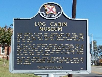 Log Cabin Museum Marker image. Click for full size.