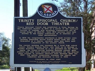 Trinity Episcopal Church/Red Door Theater Marker, front image. Click for full size.