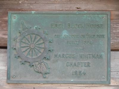 Ebey Blockhouse Marker image. Click for full size.