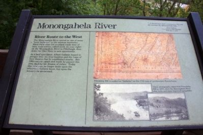Monongahela River Marker image. Click for full size.