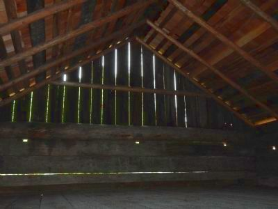 Second floor, interior of the Alexander Blockhouse image. Click for full size.