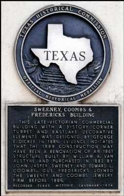 Sweeney, Coombs & Fredericks Building Marker image. Click for full size.