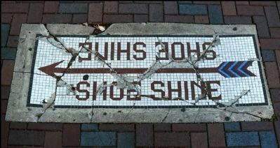 Sweeney, Coombs & Fredericks Building Sidewalk Inlaid image. Click for full size.