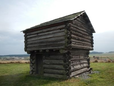 Ebey's Blockhouse on Ebey's Bluff near the Sunnyside Cemetery image. Click for full size.