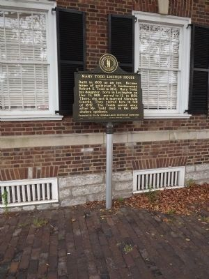Mary Todd Lincoln House Marker image. Click for full size.