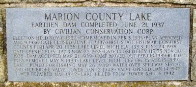 Marion County Lake Marker image. Click for full size.