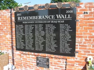 Rememberance Wall image. Click for full size.