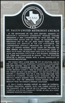 St. Paul's United Methodist Church Marker image. Click for full size.