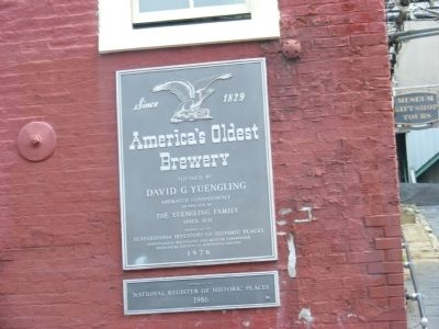 Yuengling -America's Oldest Brewery Marker image. Click for full size.
