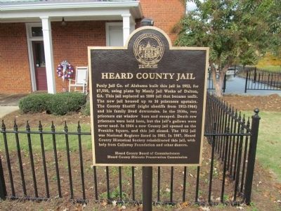 Heard County Jail Marker image. Click for full size.