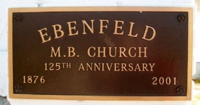 Ebenfeld 125th Anniversary Marker image. Click for full size.