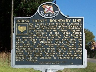 Indian Treaty Boundary Line Marker image. Click for full size.