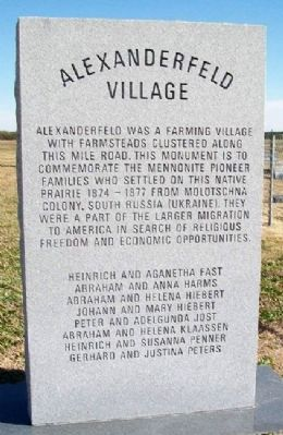 Alexanderfeld Village Marker image. Click for full size.