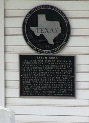 Tatum Home Marker image. Click for full size.