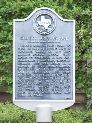 Stephen Augustus Pace Marker image. Click for full size.