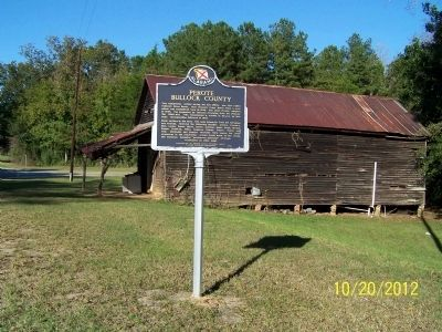Perote Bullock County Marker image. Click for full size.