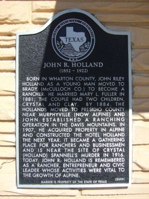 John R. Holland Marker image. Click for full size.