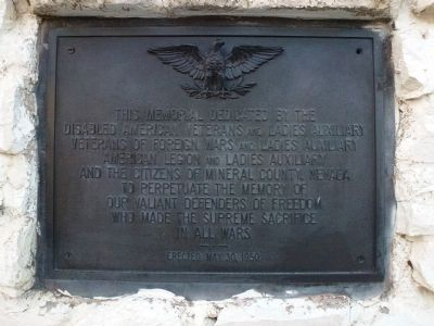 To Perpetuate the Memory of our Valiant Defenders of Freedom Marker image. Click for full size.