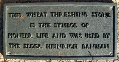 Banman Wheat Threshing Stone Marker image. Click for full size.