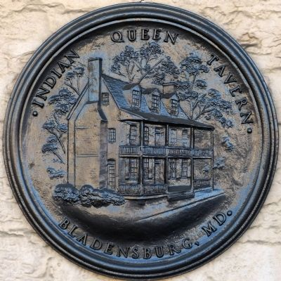 Bronze Plaque by the front door of the Indian Queen Tavern image. Click for full size.