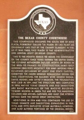Bexar County Courthouse Marker image. Click for full size.