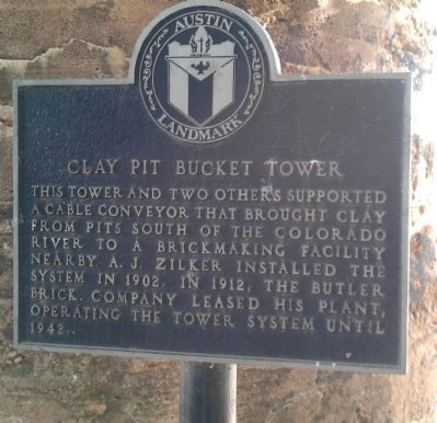 Clay Pit Bucket Tower Marker image. Click for full size.