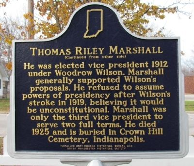 Thomas Riley Marshall Marker image. Click for full size.
