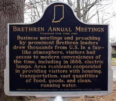 Brethren Annual Meetings Marker image. Click for full size.