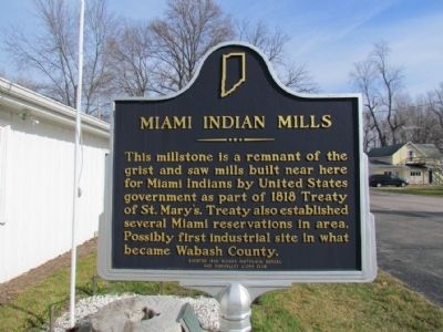 Miami Indian Mills Marker image. Click for full size.