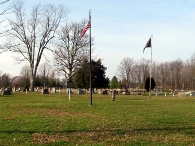 The marker is located in Glenwood Cemetery image. Click for full size.
