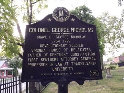 Colonel George Nicholas Marker image. Click for full size.