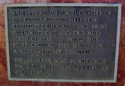 Pioneer Trails Meridian Road Marker image. Click for full size.