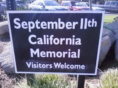 September 11th California Memorial Marker image. Click for full size.