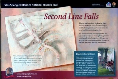 Second Line Falls Marker image. Click for full size.