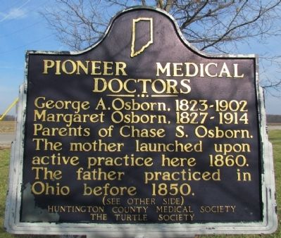 Pioneer Medical Doctors / Chase S. Osborn Marker image. Click for full size.