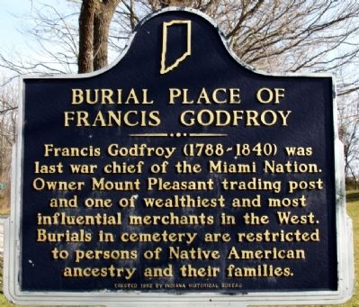 Burial Place of Francis Godfroy Marker image. Click for full size.