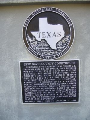 Jeff Davis County Courthouse Marker image. Click for full size.