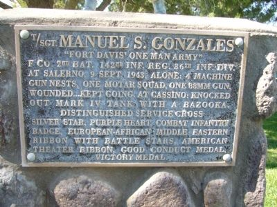 T/SGT. Manuel S. Gonzales Marker image. Click for full size.