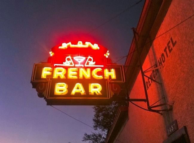 The French Hotel and Bar Neon Sign image. Click for full size.