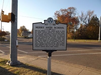 Merry High School Marker image. Click for full size.