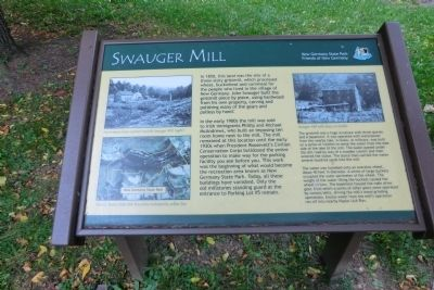 Swauger Mill Marker image. Click for full size.