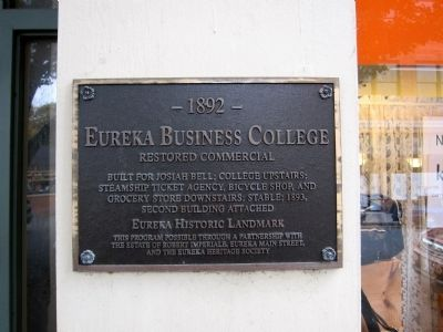 Eureka Business College Marker image. Click for full size.