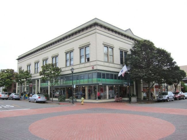 The former Eureka Business College - looking southwest across 2nd street image. Click for full size.
