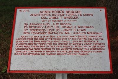 Armstrong's Brigade. Marker image. Click for full size.